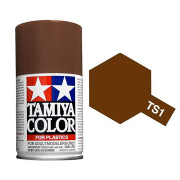 Vernice Spray Tamiya TS-1 Red Brown