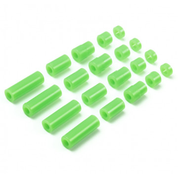 Set Spessori in Plastica Light Weight Verde Fluo