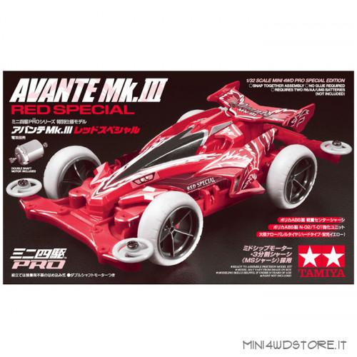 Mini 4WD Pro Avante Mk.III Red Special con Telaio MS-L