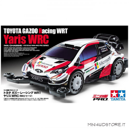 Mini 4WD Toyota Gazoo Wrt Yaris con Telaio MA