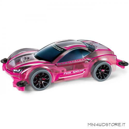 Mini 4WD Raikiri Pink Special con Telaio MS