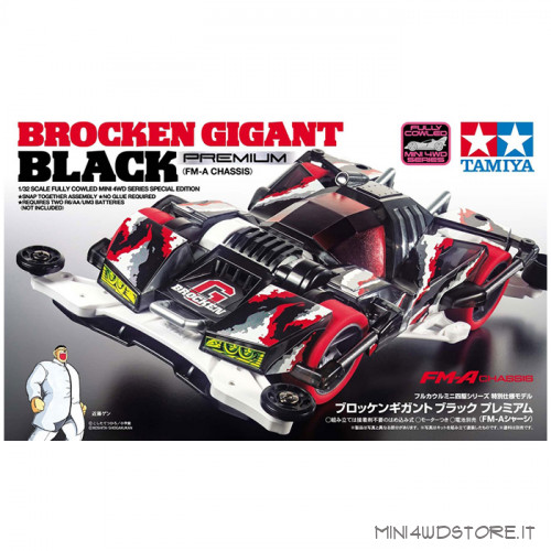 Mini 4WD Brocken Gigant Black Premium con Telaio FM-A