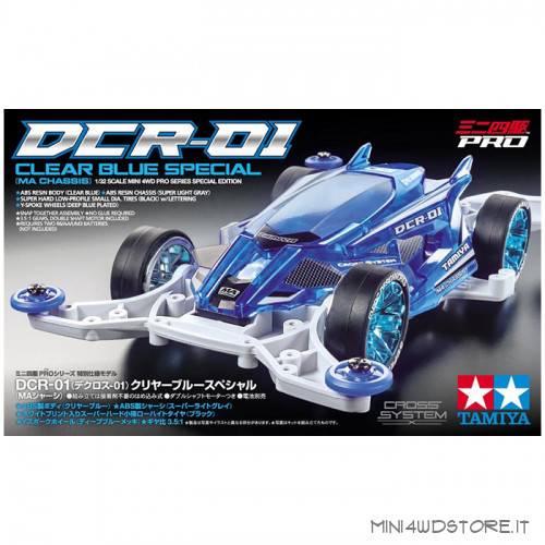 Mini 4WD DCR-01 Clear Blue Special con Telaio MA