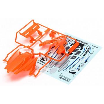 Carrozzeria in Plastica Abs Mini 4WD DCR-02 Arancio Fluo
