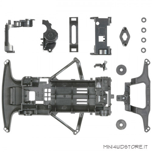 Telaio Super FM Carbon Reinforced per Mini 4WD