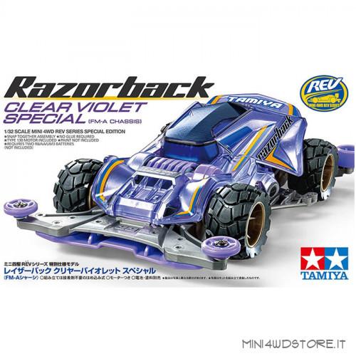 Mini 4WD Razorback Clear Violet con Telaio Fm-A