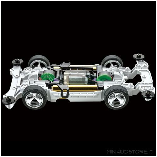 Mini 4WD Trf Racer Black Special con Telaio MS