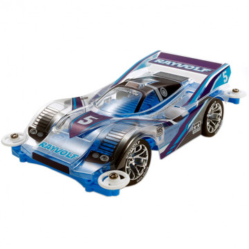 Mini 4WD Rayvolf Polyc. Body Light Blue Special con Telaio MS