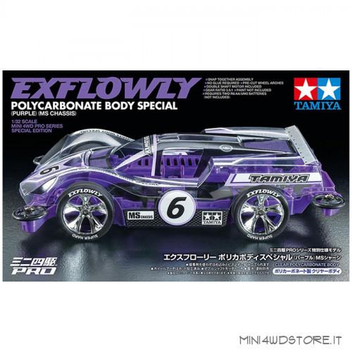 Mini 4WD Exflowly Purple Special Polyc. Body con Telaio MS