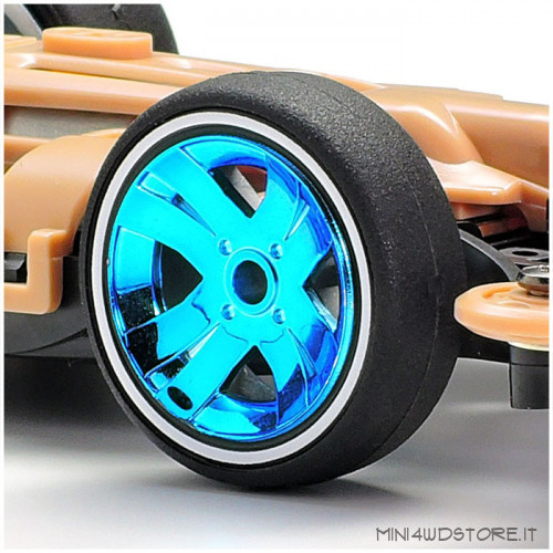 Mini 4WD Shooting Proud Star Clear Blue con Telaio MA