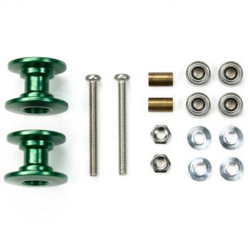 Double Roller Alleggeriti in Alluminio Verdi da 13-12mm